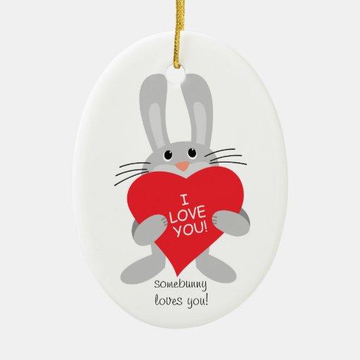 somebunny loves you Christmas Ornament