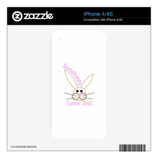Somebunny Loves You! iPhone 4S Skins