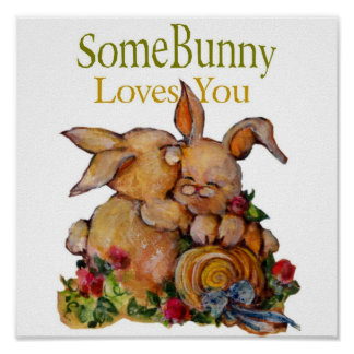 Somebunny loves you posters