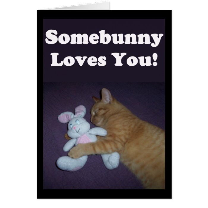 somebunny loves you valentine card zazzle. Black Bedroom Furniture Sets. Home Design Ideas