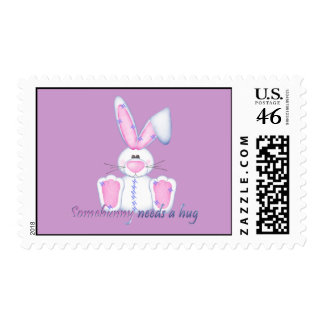 Somebunny needs a hug postage stamp