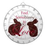 Somebunny para amar día de San Valentín Tablero De Dardos