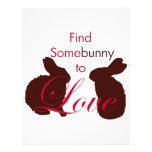 Somebunny para amar día de San Valentín Plantillas De Membrete