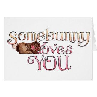 Somebunny - tarjeta de pascua