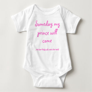 Someday my , ...and then Daddy will scare him a... Baby Bodysuit