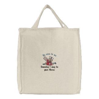 Someday Nurse Embroidered Tote Bag
