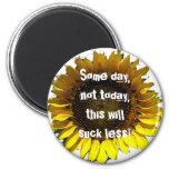 Someday Sunflower Magnet