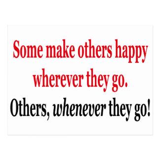 somemake otros felices dondequiera que vayan, postales