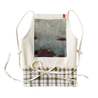 Someone behind the clouds zazzle HEART apron