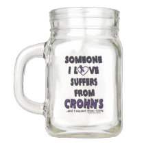 Someone I Love...Crohn's Mason Jar