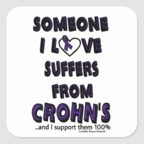 Someone I Love...Crohn's Square Sticker