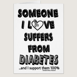 Someone I Love...Diabetes Card