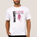 Someone I Love Earned Their Wings Throat Cancer Tee Shirt