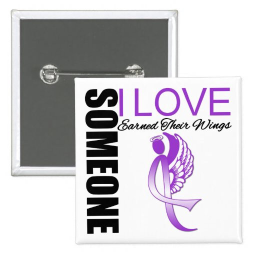 Someone I Love Earned Wings Domestic Violence Pinback Button