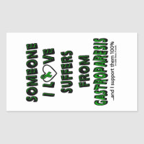 Someone I Love...Gastroparesis Rectangular Sticker