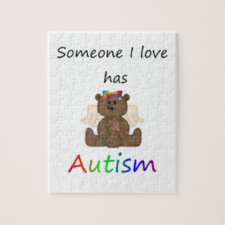 Someone I love has autism (girl bear) Puzzle