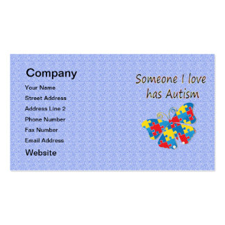 Someone I love has autism (multi) Business Card Template