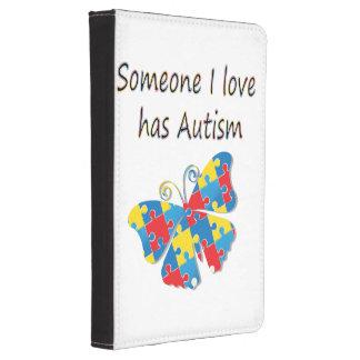 Someone I love has autism (multi) Kindle 4 Case