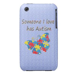 Someone I love has autism (multi) iPhone 3 Case-Mate Cases