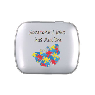 Someone I love has autism (multi) Jelly Belly Candy Tins