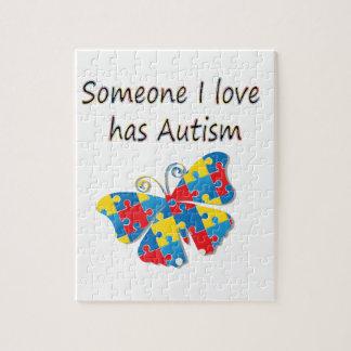 Someone I love has autism (multi) Jigsaw Puzzle