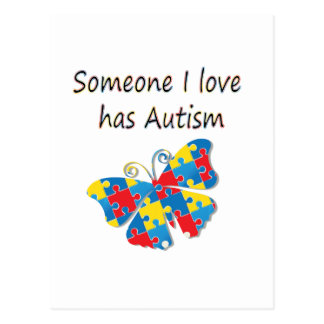 Someone I love has autism (multi) Post Cards