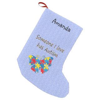 Someone I love has autism (multi) Small Christmas Stocking