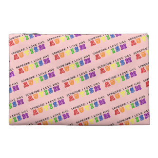 """Someone I Love Has Autism"" Rainbow Travel Bag"