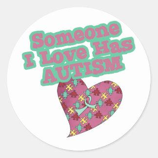 Someone I Love Has Autism Stickers