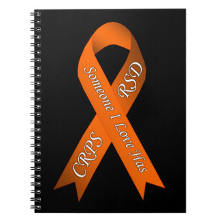 Someone I Love Has CRPS RSD Awareness Ribbon Spiral Notebooks