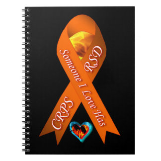 Someone I Love Has CRPS RSD Fire & Ice Heart Noteb Spiral Note Books