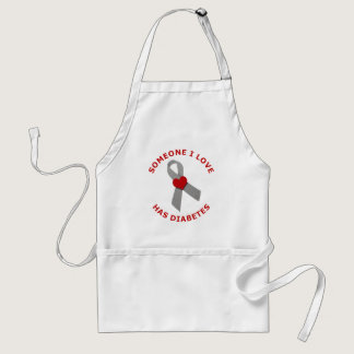 Someone I Love Has Diabetes Adult Apron