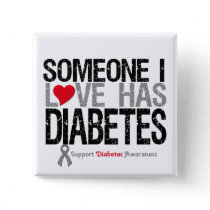 Someone I Love Has Diabetes Button