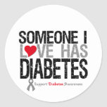 Someone I Love Has Diabetes Classic Round Sticker