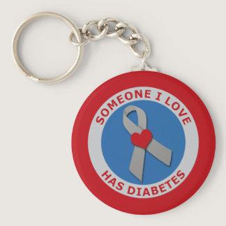 Someone I Love Has Diabetes Keychain