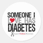 Someone I Love Has Diabetes Round Sticker