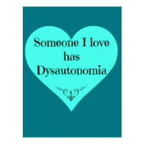 Someone I love has Dysautonomia Postcard