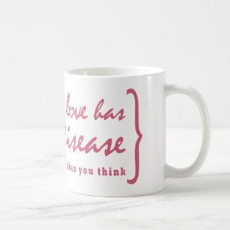 Someone I Love Has Lyme Disease - Pink Classic White Coffee Mug
