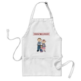 Someone I Love Is A Survivor Aprons