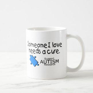 Someone I Love Needs A Cure (Autism) Classic White Coffee Mug