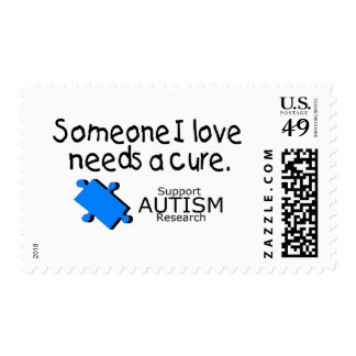 Someone I Love Needs A Cure (Autism) Postage