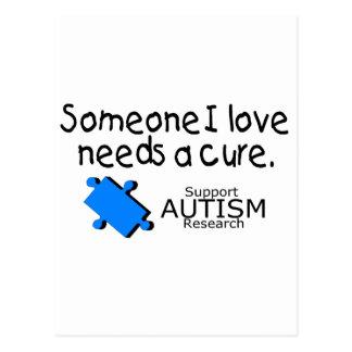 Someone I Love Needs A Cure (Autism) Postcard