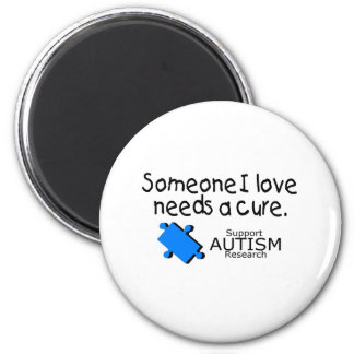 Someone I Love Needs A Cure (Blue P) 2 Inch Round Magnet