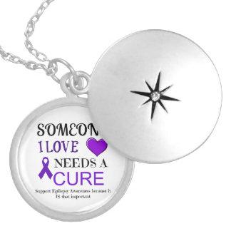 Someone I Love Needs a Cure - Epilepsy Necklace
