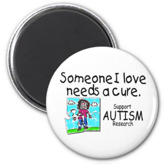 Someone I love Needs A Cure (Girl Crying) 2 Inch Round Magnet