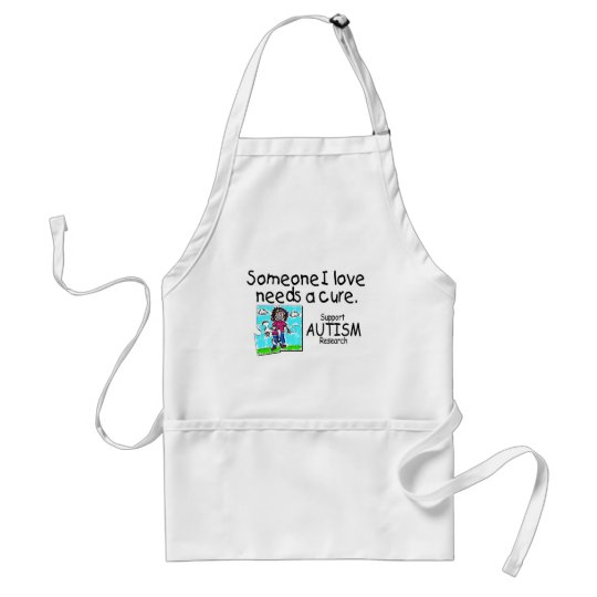 Someone I love Needs A Cure (Girl Crying) Adult Apron