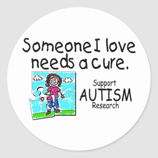 Someone I love Needs A Cure (Girl Crying) Classic Round Sticker