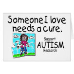 Someone I love Needs A Cure (Girl Crying) Greeting Card