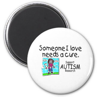 Someone I love Needs A Cure (Girl Crying) Fridge Magnet
