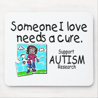 Someone I love Needs A Cure (Girl Crying) Mouse Pad